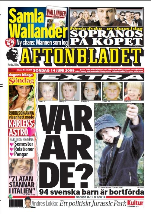 aftonbladet front 14 juni 09