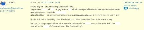 Osama 15 dec 2012 redigerad kommentar