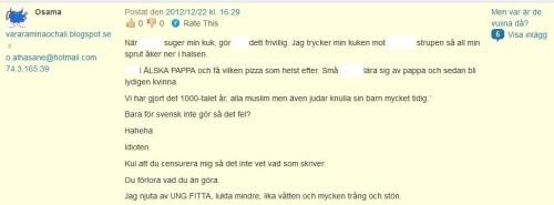 Osama 22 dec redigerad kommentar