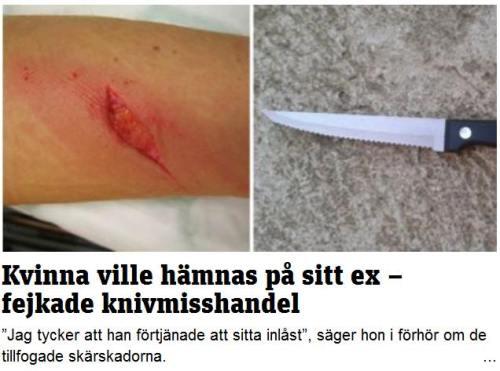 kniv kvinna lögn