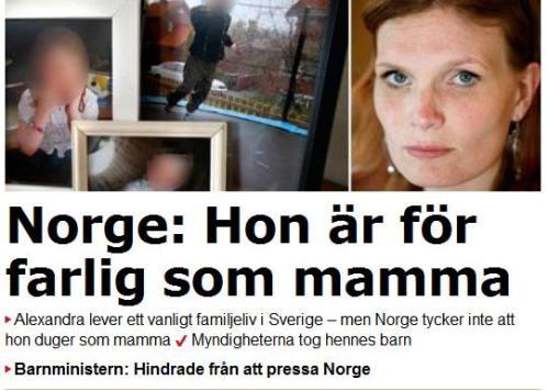 norge aftonbladet barn omhändertagna