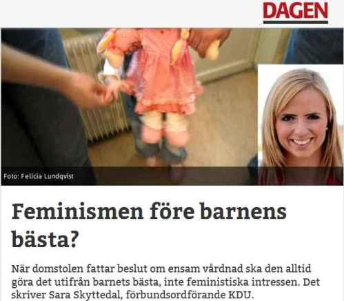dagen feminism debattt vårdnad