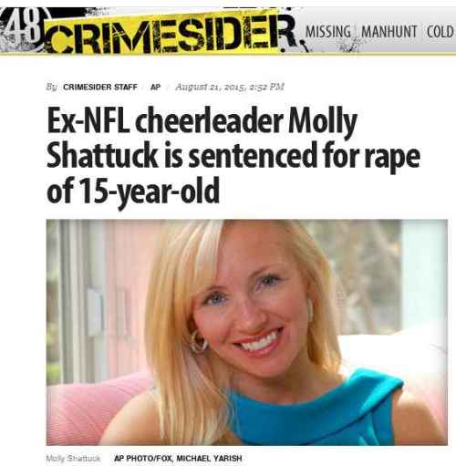 CBS Crimesider Molly Shattuck sentenced for rape of 15-year-old