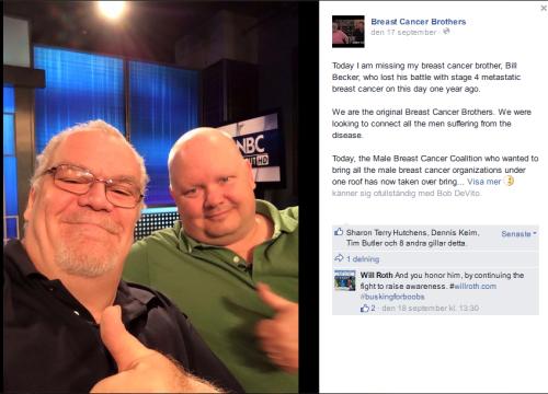 Facebookgruppen Breast Cancer Brothers