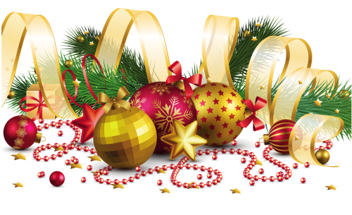 Transparent_Christmas_Decoration_with_Gold_Bow_PNG_Picture
